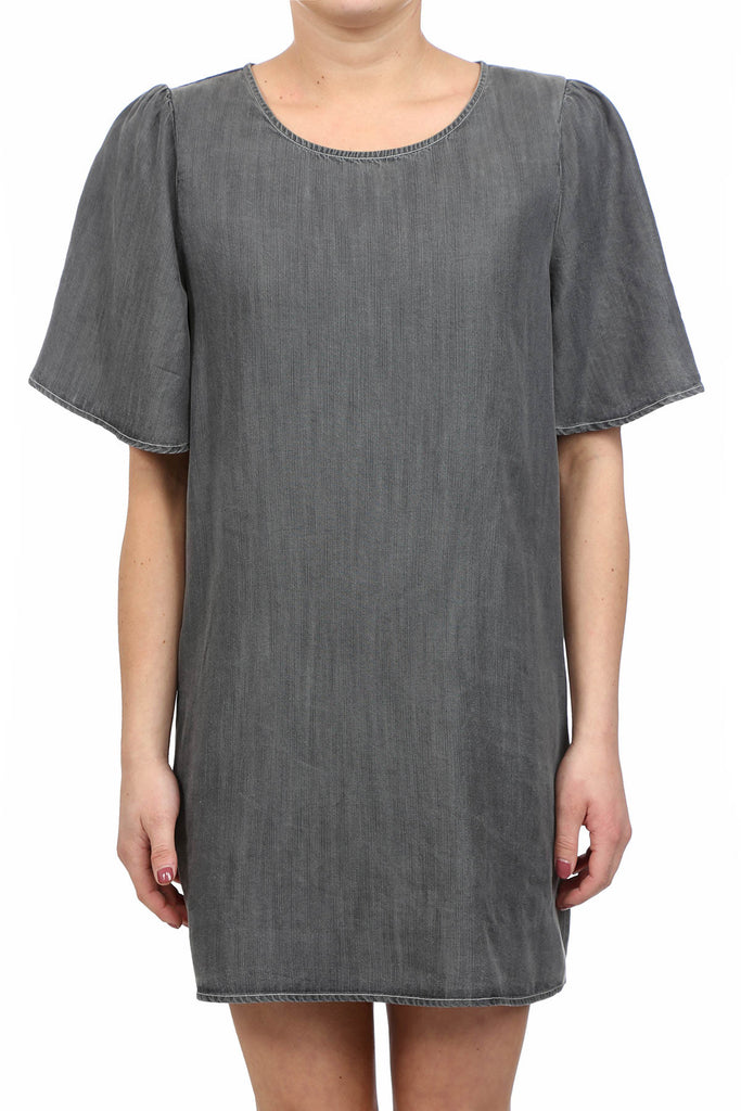RURAL TENCEL POCKET DRESS - MEDIUM GREY