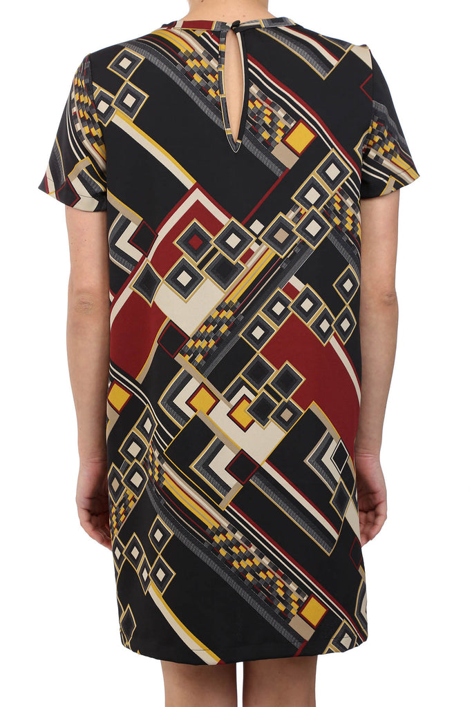 RETRO MOD POCKET DRESS - BLACK