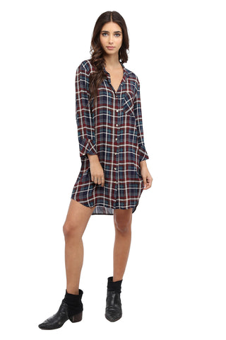 Down Pockets Shirt Dress