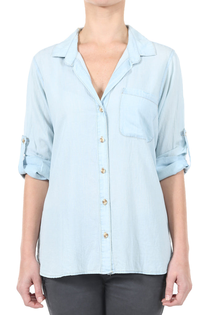 TENCEL BUTTONDOWN SHIRT - LIGHT