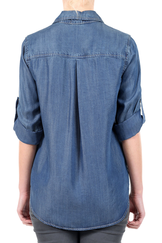 TENCEL BUTTONDOWN SHIRT - INDIGO