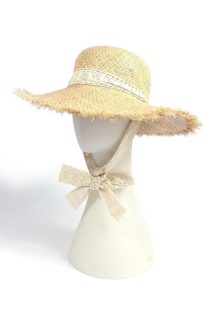 ROUND TOP LACE TRIM HAT