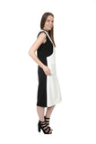 G2G Monochrome Midi Dress
