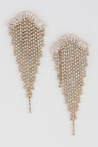 Symmetrical Rhinestone Earrings