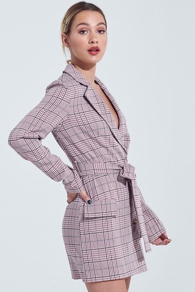 Gaya Checker Blazer Dress