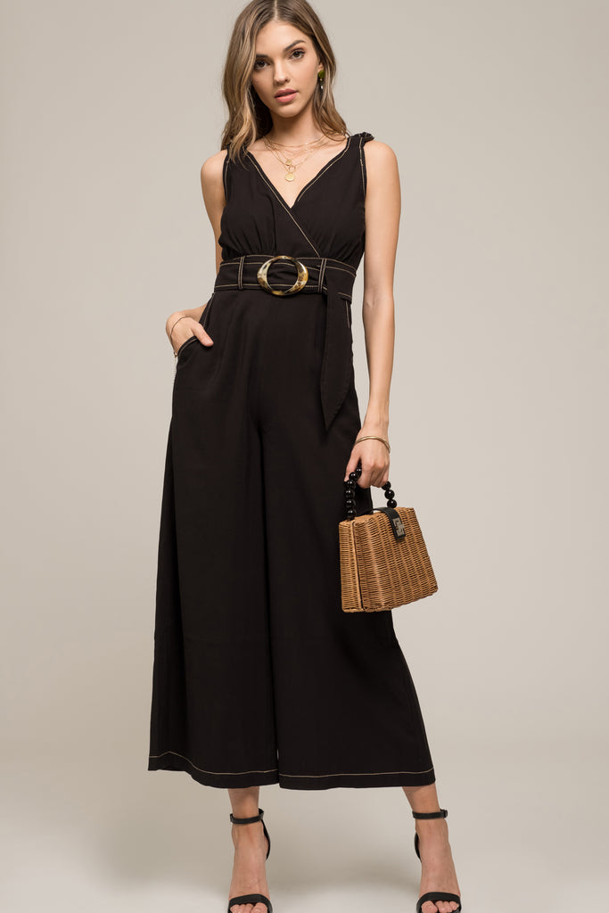 Jumpsuit with Waist Belt