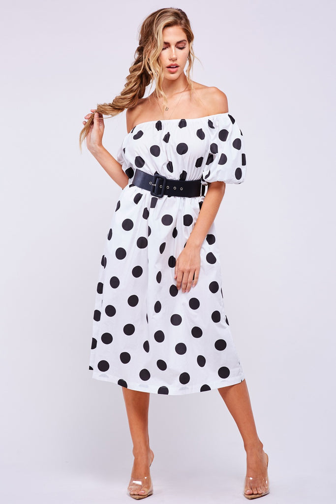 Polka Dots Midi Dress