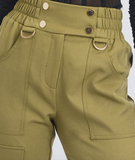 HIGH WAISTED POCKET DETAIL CARGO JOGGER PANTS