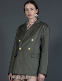Notch Collar Jacket with Double Breasted Front