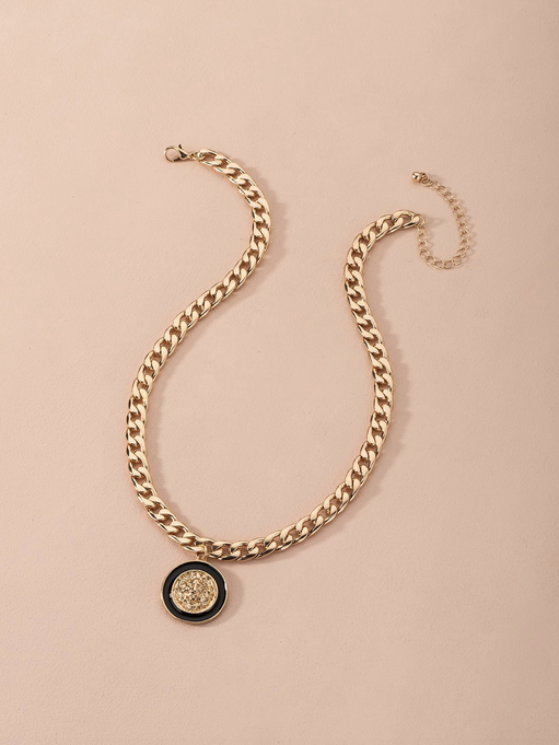 COIN CHARM CHAIN NECKLACE