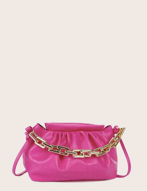 CHAIN RUCHED BAG
