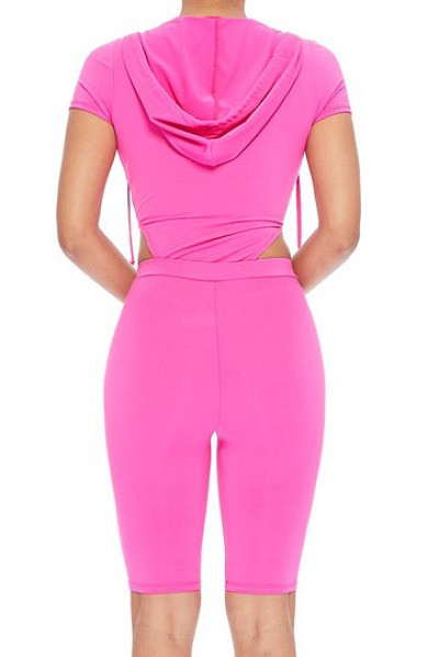 Neon Pink 2 Piece Lounge Set