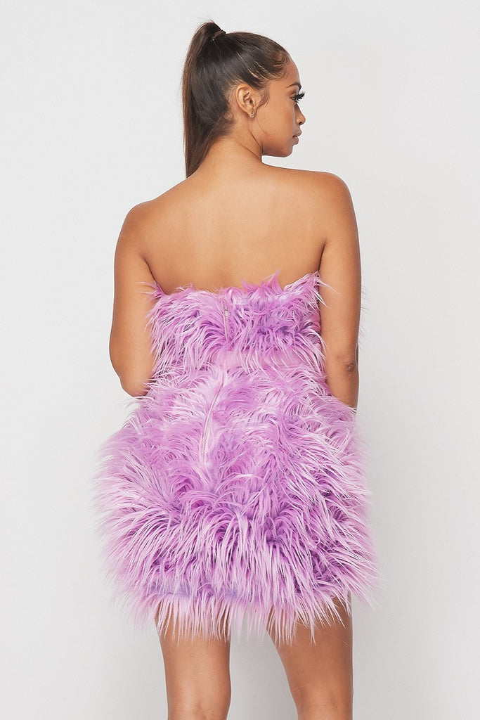 Wow So Nice Faux Fur Dress
