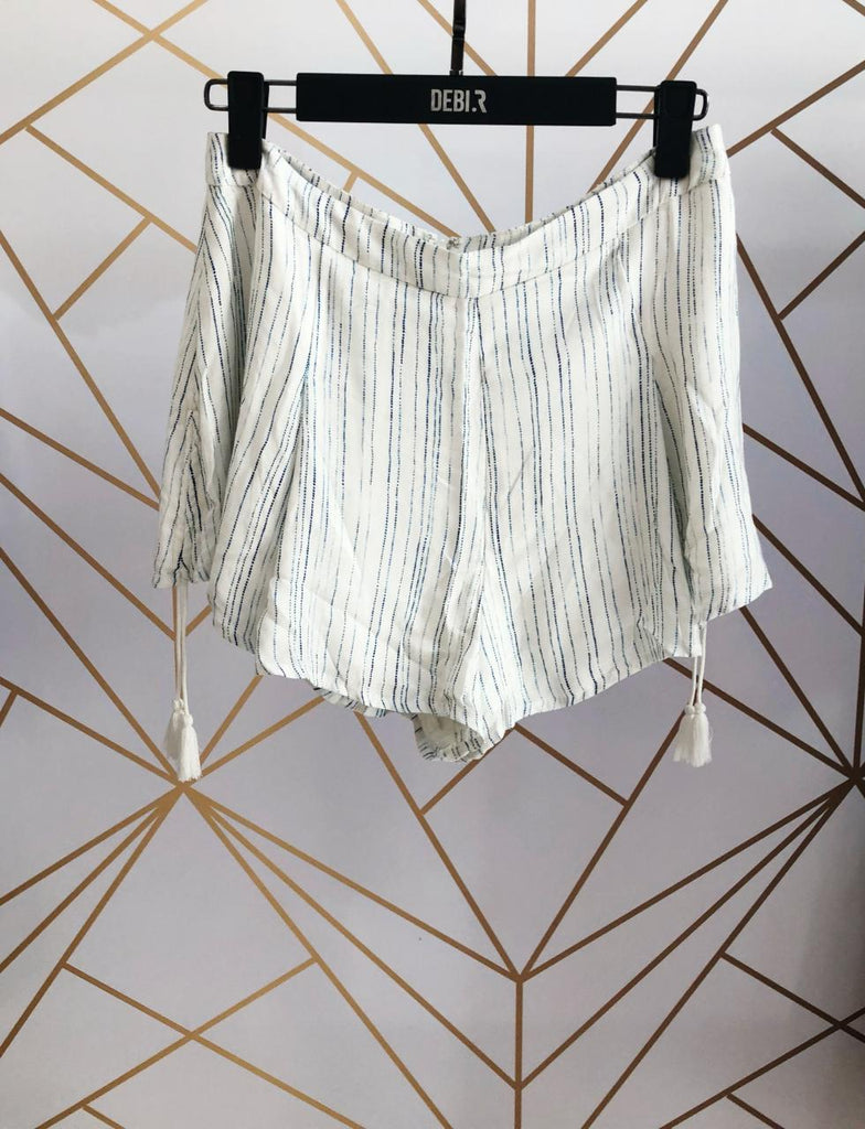 Stripes Tassel Shorts