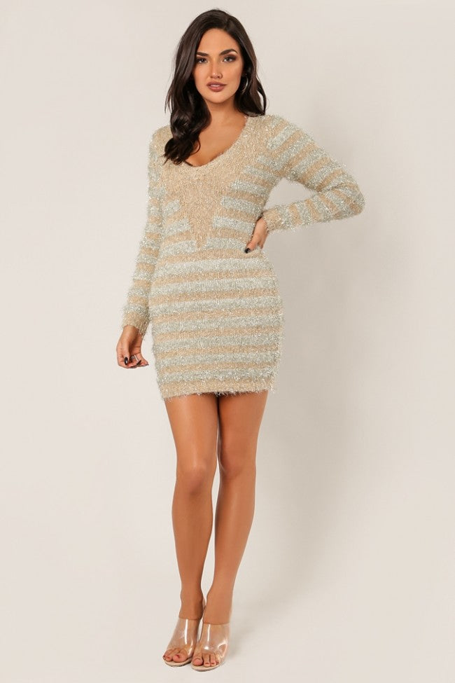Madaleine Fuzzy Sweater Dress