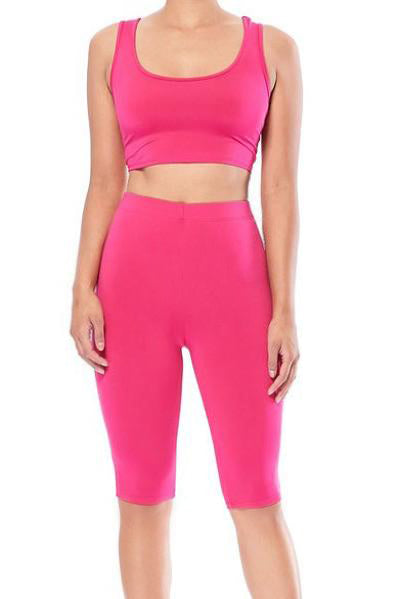 Crop Top Set with Legging