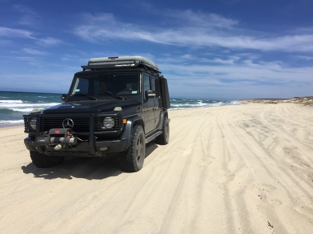 Test run on the beaches of La Ribera, Baja California Sur