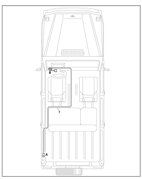 Brake Harness Install In Car Diagram for Mercedes G-Class 2014 and Up - VTS-7159-14
