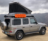 James Baroud Space Roof Top Tent white standard mounted to Mercedes 2019 Gwagon W463A