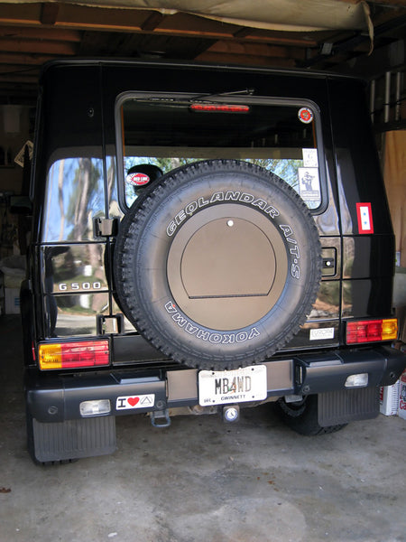 Rear Spare Wheel Cover With Lockable Compartment For