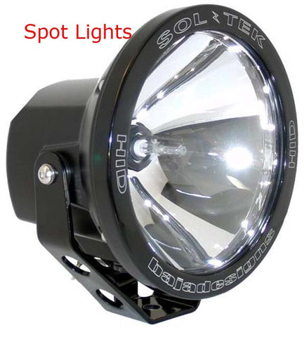 "Auxillary HID Spot Lights - Baja Designs PreRunner 6"" Black"