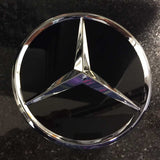 Glossy Black with chrome star Mercedes-Benz center cap