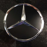 Matte Black with chrome star Mercedes-Benz center cap
