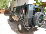 Side Utility Rack with tools on Mercedes G-500 off road tools W463 overlanding Gwagen parts