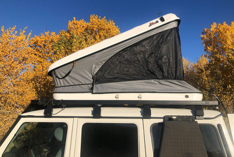 James Baroud hard top Roof Top Tent Space Standard White on Mercedes G-Wagen Slimline roof rack