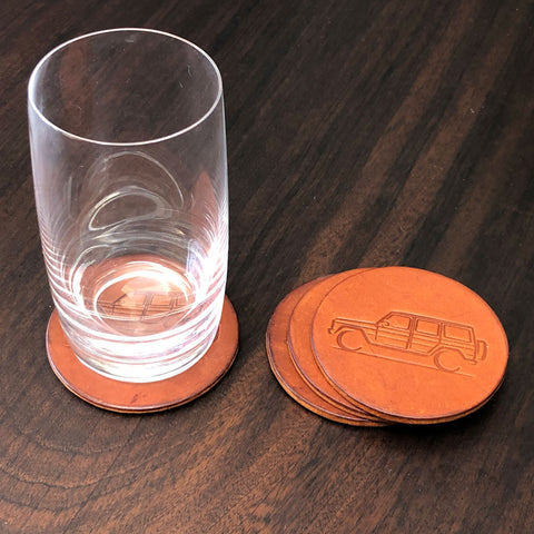 G-Wagen Leather Coasters Gift