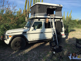 James Baroud Evasion Hard Shell Roof Top Tent mounted on Mercedes G-Wagen