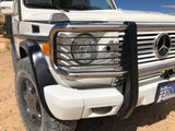 G-wagon stainless steel brush guard with headlight grill
