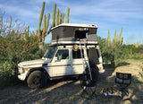 James Baroud Evasion Hard Shell Roof Top Tent mounted on Mercedes GWagen