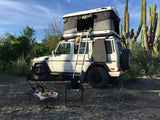 James Baroud Evasion Hard Shell Roof Top Tent mounted on Mercedes G-Wagon