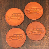 Mercedes G-Class leather coasters home accessories gift