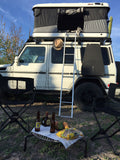 James Baroud Evasion Hard Shell Roof Top Tent mounted on Mercedes G-Class
