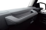 Mercedes Gwagon Grab Handle Storage Box Passenger Side black stitching detail