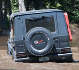 G-wagon spare tire compartment cover