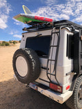 g-wagen roof ladder to head surfing or paddling