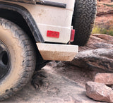 side view of Mercedes G-Calss all steel rear bumper