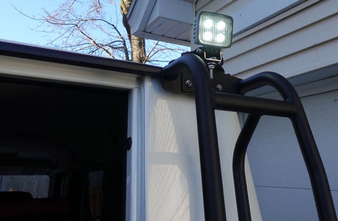 GWagon rear backup light mounted to roof access ladder