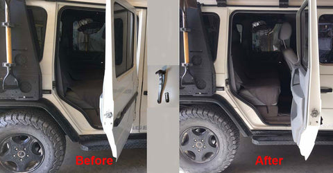 Update your Gwagon with the 90 degrees door retention band
