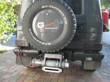 Rear Winch Mounted on G500 Mercedes  Gelandewagen