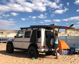 Gwagen Slimline rack low with SUP Stand Up Paddle Board