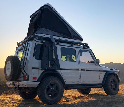 G-Wagon roof rack and James Baroud Space Hard Shell Roof Top Tent Package Discount