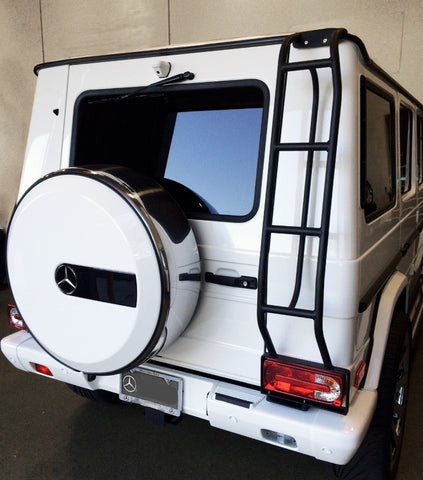 G550 With Roof Ladder installed. Rear access ladder Gwagen parts and accessories