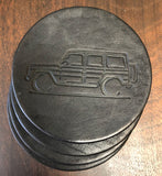 Gwagon leather coasters black home accessory gift