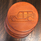 Gelandewagen leather coasters gift