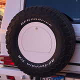 G-Wagon Custom Color Spare Wheel Cover white