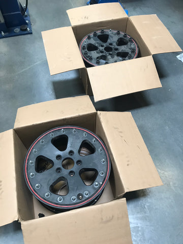 "Used 18"" LeTech beadlock wheels for G wagon"
